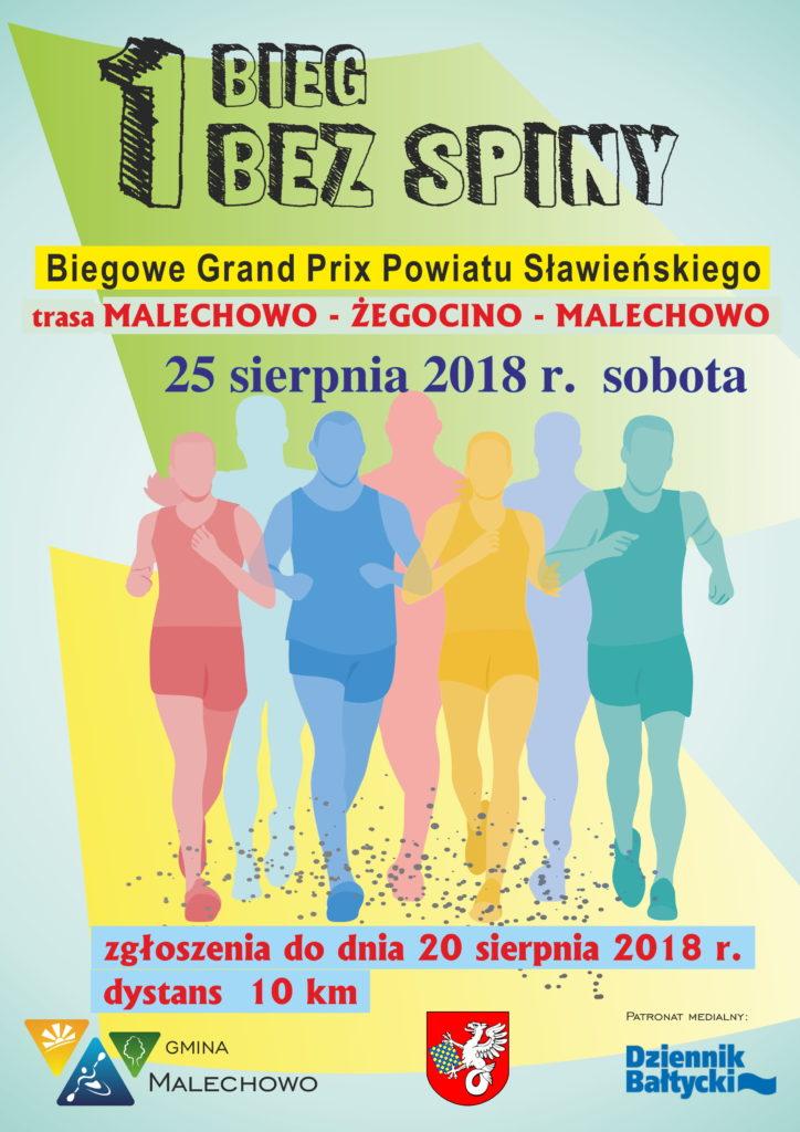 Bieg Bez Spiny - plakat