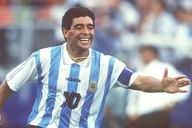Diego Maradona podczas Mistrzostw Świata z 1994 roku (Getty Images)